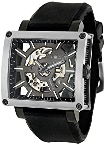 "Stuhrling Original Men's 257.ST.331654 ""Classic Metropolis"" Stainless Steel Automatic Watch with Rubber Band"
