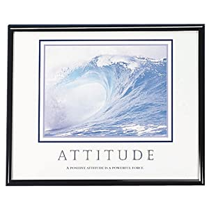 Advantus Framed Motivational Print, Attitude, 30 x 24 Inches, Black Frame (AVT78024)