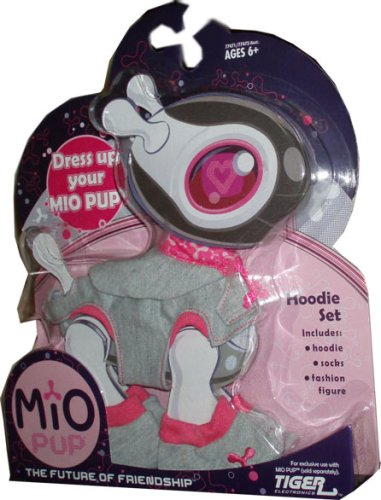 Mio Pup Hoodie Set - Grey Outfit with Hoodie, Socks and Fashion Figure
