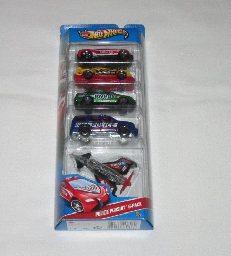 Hot Wheels HW City Police Pursuit-5 pack - 1