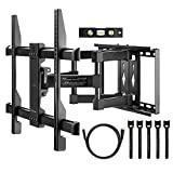 Perlegear Full Motion TV Wall Mount Bracket with Dual Articulating Arm for most 37-70 Inch LED, LCD, OLED, Plasma Monitors up to VESA 600x400mm,with Tilt, Swivel, and Rotation Including HDMI Cable