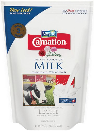 Nestle Carnation Instant Nonfat Dry Milk, 9.6 Ounce Pouch (Fat Free Milk compare prices)