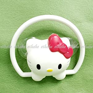 Hello Kitty Bath Towel Rack Hanger Holder White