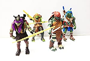 Teenage Mutant Ninja Turtles Action Figures All Four Characters