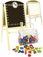 Leomark Tableau Multifonctions Avec Accessoires tableau double face enfant tableau magnétique Tableau en Bois