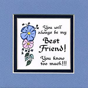 Always best friend saying home decor wall sign for Best home decor amazon