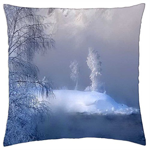 "Frosty Blue - Throw Pillow Cover Case (18"" x 18"")"