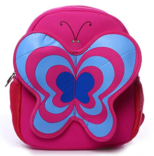 Double Shoulders Backpack with Butterfly Shape Cute