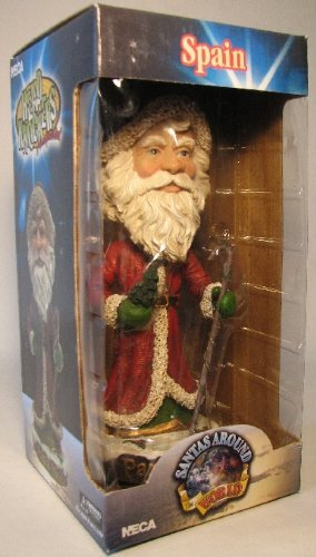 NECA Santas Around the World Head Knockers - Spain Papa Noel