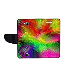 KolorEdge Printed Flip Cover For Acer Liquid Z530 Multicolor - (1478-50KeMLogo12474AcerZ530)