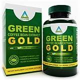 Green Coffee Bean Extract GOLD SVETOL® Pure (Extrait Pur De Grains De Café Vert) ~ 50 % acide chlorogénique, 60 Capsules| Complément pour perte de poids 100 % naturel (ingrédient à l'efficacité prouvé cliniquement) | Contenance 800 mg, Capsules 100 % végétariennes