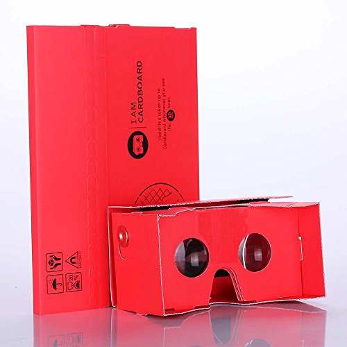 Great Deal! I AM Cardboard® Giant Version 50mm Focal Length Virtual Reality Cardboard Kit (Red)