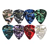 Fender 198-0351-702 351 Shape Classic Thin Celluloid Picks, 12 Pack, Blue Moto
