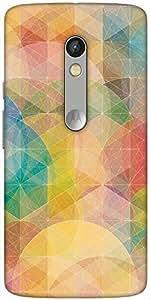 Snoogg Design Circular Mix Designer Protective Back Case Cover For Motorola Moto X Play
