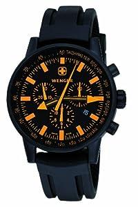 Wenger Swiss Raid Commando 70893 - Reloj de caballero de cuarzo, correa de goma color negro (con cronómetro)