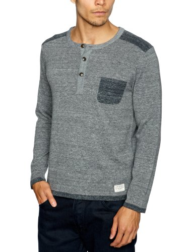 Cottonfield Neavers Men's Jumper Medium Grey Melange Small