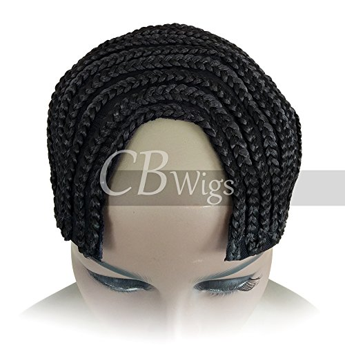 [Cbwigs Braids Cap for Easier Sew in Hair Weft Cornrow Cap for Wefts (Large, Black U Part Style)] (Cornrow Wigs)