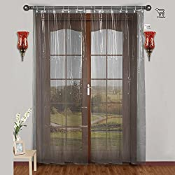 E-Retailer 0.30mm PVC AC Transparent Curtain (Width-54Inches X Height-96Inches)...