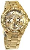 GUESS U0111L2 Gold-Tone Sparkling Watch