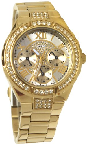 GUESS U0111L2 Gold-Tone Sparkling Watch