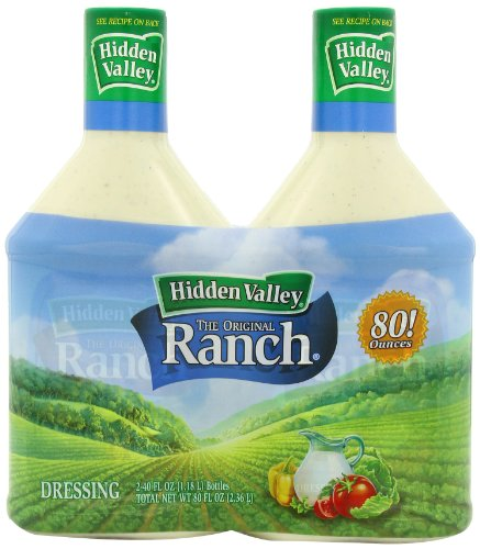 Hidden Valley The Original Ranch Dressing, Homestyle, 2-Count Bottle, 80 fl oz Total (071100210422)