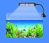 ASSEM® New 3.5W Aquarium 3 Mode Flexible Tank Lamp 48 LED White & Blue Light 85-265V+Power Adapter Saving Energy, Touchable Inductive Switch