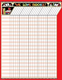 Teacher Created Resources ME We Love Books! Incentive Chart, Multi Color (7671)