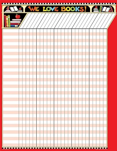 Teacher Created Resources ME We Love Books! Incentive Chart, Multi Color (7671) (Classroom Reading Charts compare prices)