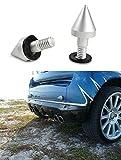 BlueBeach Stoßfänger-Schutz Spike für Smart Fortwo Coupe Passion Cabrio Electric (Silber)