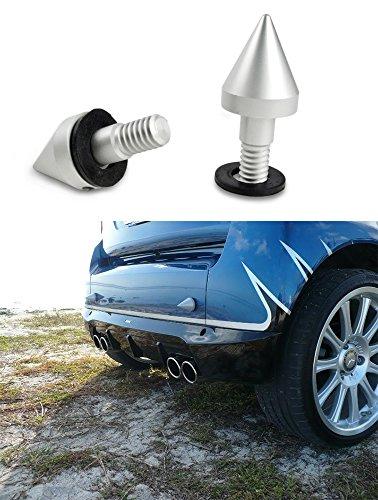 bluebeachr-paraurti-protezione-spike-per-smart-fortwo-coupe-passion-cabrio-elettrico-argento