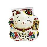 ゴージャス 招き猫  彩耀 宝くじ 大当たり 招き猫 白 C-379