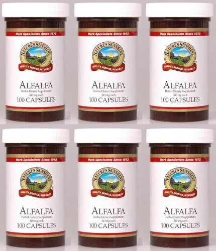 Naturessunshine Alfalfa Dietary Food Supplements 100 Capsules (Pack Of 6)