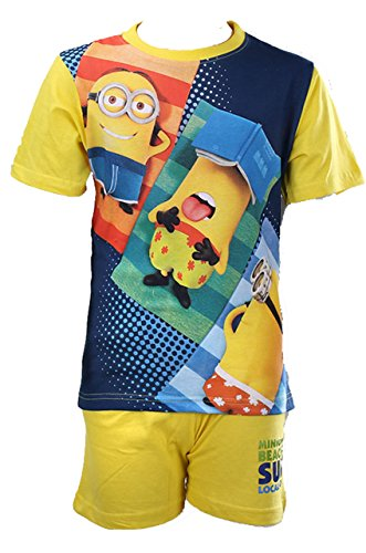 Minion pigiama kurz Giallo 2 4 anni