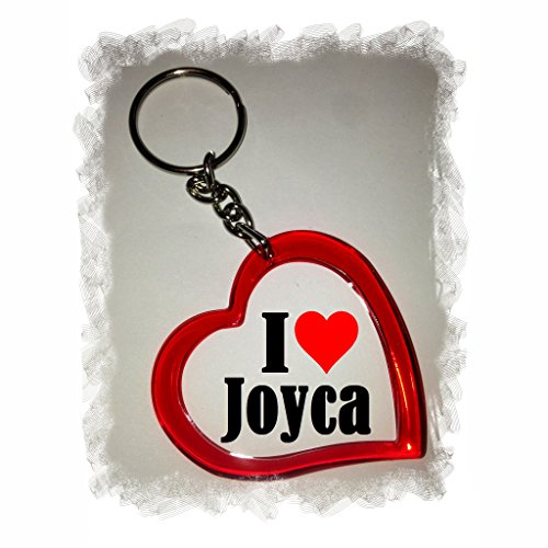 """ESCLUSIVO: Cuore Portachiavi/ Keychain """"I Love Joyca"""" , una grande idea regalo per il vostro partner, la famiglia e molti altri - regalo di Pasqua, Partner di Pasqua rimorchio, ciondoli zaino, sacchetto incanta, incanta amore, ti amo, amici, amanti, accessorio, made in Germany."""