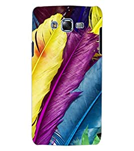 ColourCraft Colourful Feathers Design Back Case Cover for SAMSUNG GALAXY J7