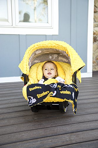 NFL Pittsburg Steelers The Whole Caboodle 5PC set - Baby Car Seat Canopy with matching accessories - 1