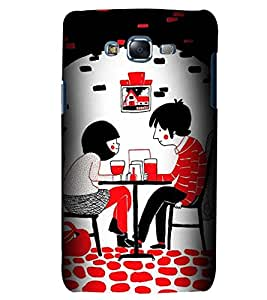 Printvisa Premium Back Cover Love Couples Dining Design For Samsung Galaxy J7::Samsung Galaxy J7 J700F