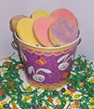 Scott's Cakes 2 lb. Easter Egg Sugar Cookies in a Purple Bunny Pail