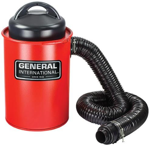 General International BT8008 2-In-1 9a Portable 13 Gallon Dust Collector With Metal Dust Collection Drum