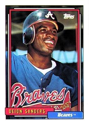 1992 Topps #645 Deion Sanders - Atlanta Braves (Baseball Cards)