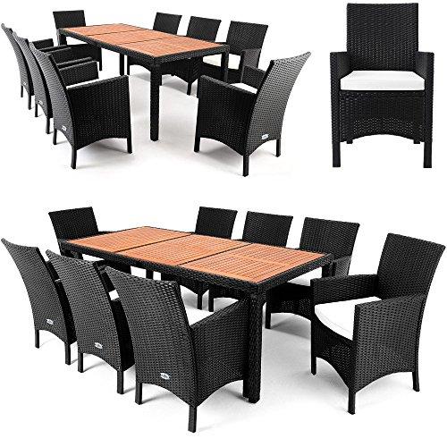 Polyrattan-Sitzgruppe-81-Tisch-aus-Akazienholz-Gartenmbel-Lounge-Gartenset-Sitzgarnitur-Rattan