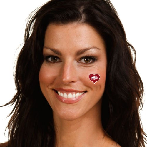 NCAA Arkansas Razorbacks 4-Pack I Love My U Tattoos at Amazon.com