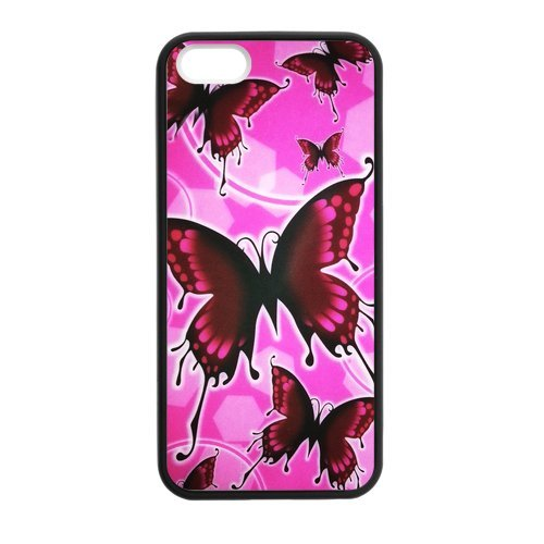 Generic Cell Phone Cases Cover For Apple Iphone 5S Case Iphone 5 Case Fashionable Art Designed With Beautiful Butterfly - K Personalized Shell front-1040913