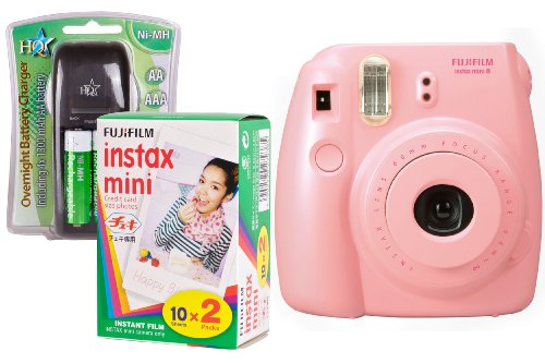 Fuji Instax Mini 8 Pink Instant Camera Kit inc 2x 10 Pack Film Black Friday & Cyber Monday 2014