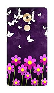 Amez designer printed 3d premium high quality back case cover for Huawei Mate 8 (Butterfly n Flowers)
