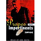 Propos impertinents (1906-1911)par Alain