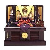 ◆五月人形 久月作《兜・収納箱飾り オルゴール付》(正絹糸縅) (間口45cm)◇久月Qプレミアム付