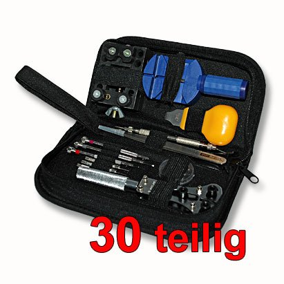 30pc watch repair tool kit in nylon bag