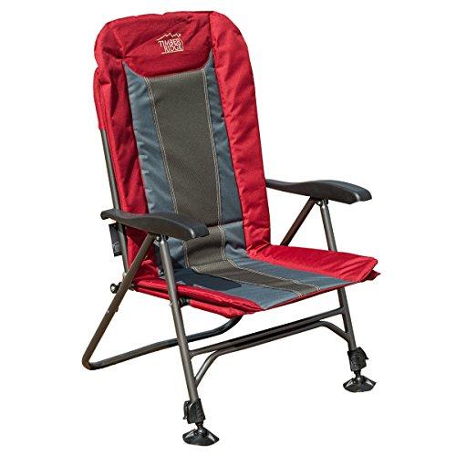 Timber Ridge Camp Chair Folding Seat Adjustable Leg