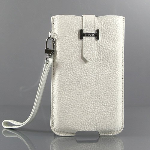 【全3色】Samsung Galaxy Note ケース GT-N7000 カバー SC-05Dケース 高品質なPUレザーケース ハンドストラップ ホワイト PU Leather Case for Galaxy Note / GT-i9220 液晶保護フィルム付(7300-3)